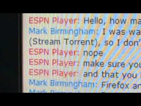 ESPN Player: Customer Support for Full Screen issues