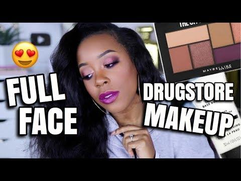 DRUGSTORE MAKEUP KILLED IT AGAIN! | FULL FACE OF DRUGSTORE MAKEUP | Andrea Renee thumbnail