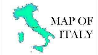 How to draw map of Italy // Draw Italy Map