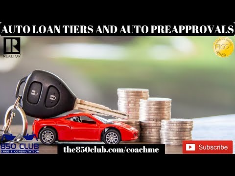 Auto Loan Tiers & Automatic Pre-Approvals For Financing/Leasing - Financial Coach, Education, Car