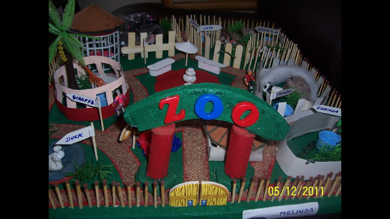 miniature zoo model   youtube
