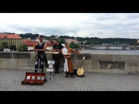 Entertainment on Charles Bridge, Prague
