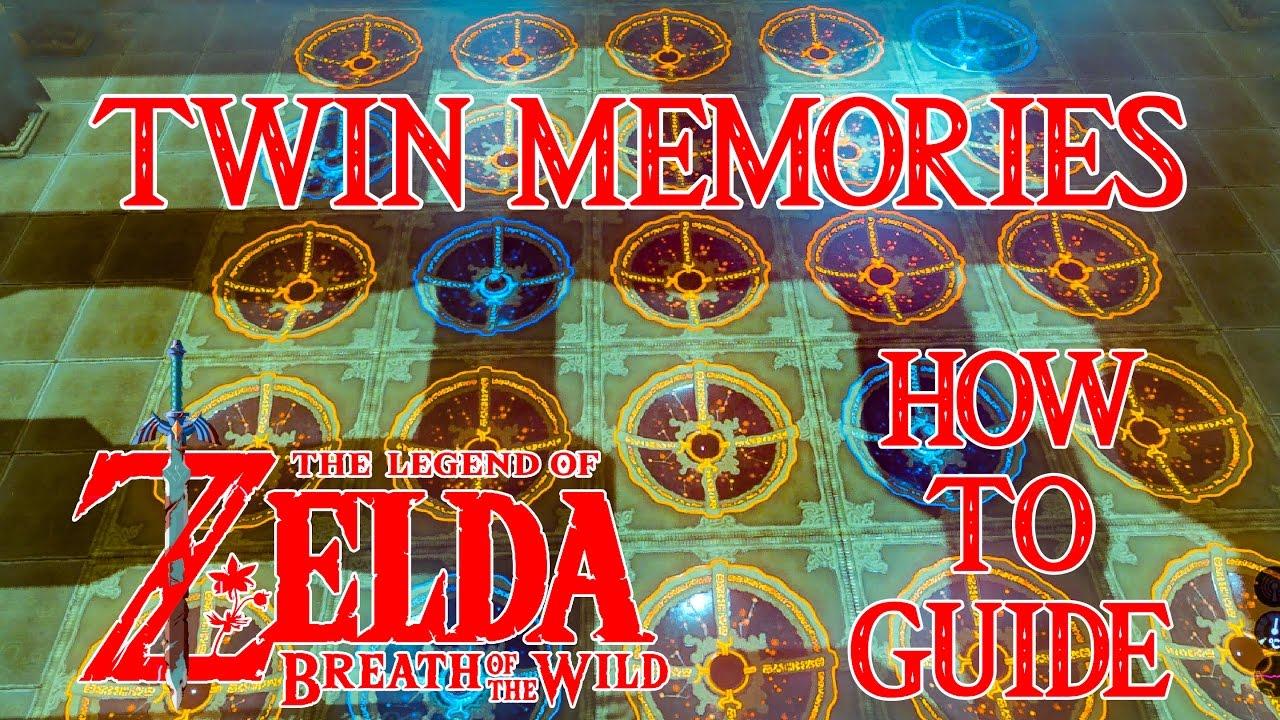 How To Do Twin Memories Shee Venath Vaneer Shrine Guide Zelda Breath Of The Wild Switch Youtube