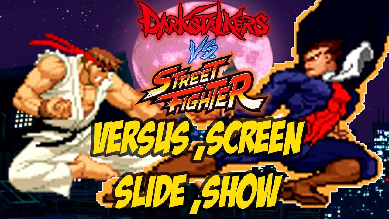 Darkstalkers Vs Street Fighter Versus Screen Slide Show Youtube