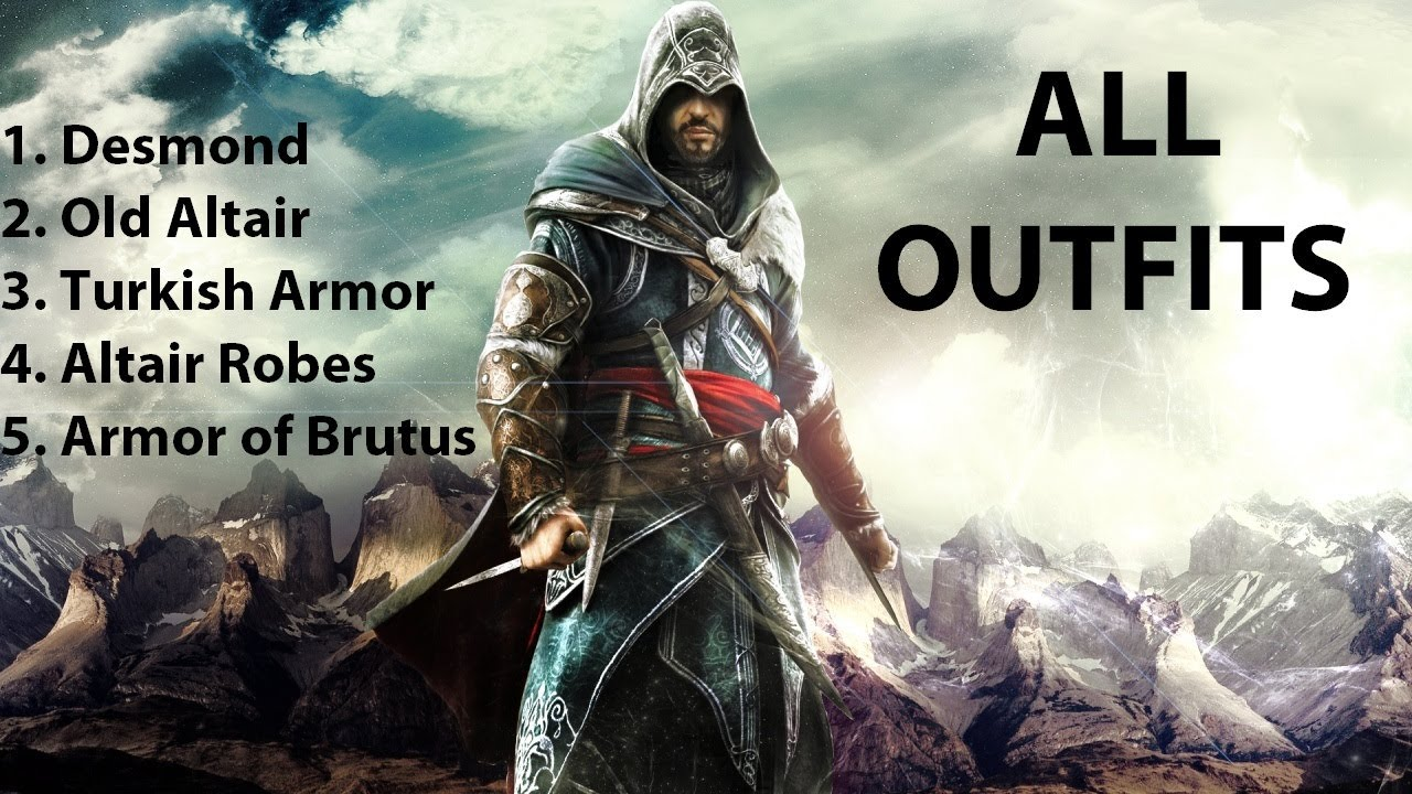 Assassin's Creed Revelations - All Outfits [HD] - YouTube