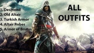 Assassin's Creed Revelations - All Outfits [HD]