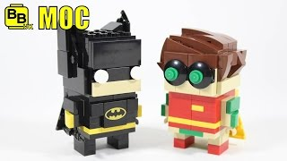 LEGO BATMAN MOVIE BATMAN & ROBIN BRICKHEADZ MOC REVIEW