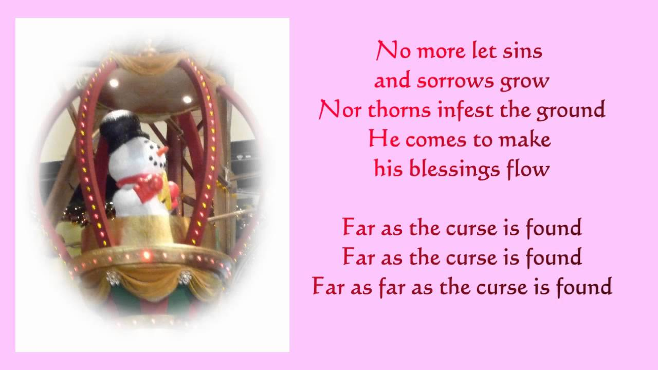 Joy to the world lyrics - piano and voice music - Christmas songs ...