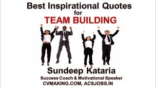 Best Inspirational Quotes for Team Work, Team Building Training