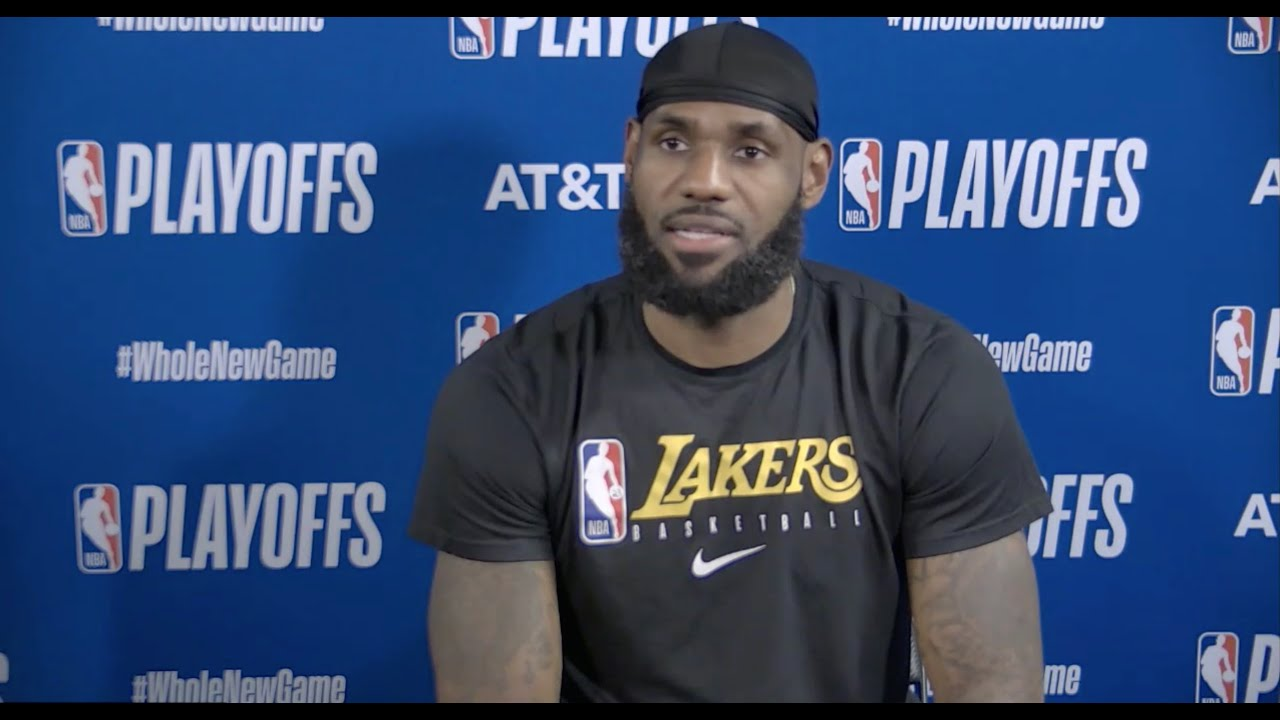 LeBron James & Anthony Davis Full Postgame Interview On Mamba Day | Game 4