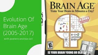 Brain Age Games Evolution (2005-2017)