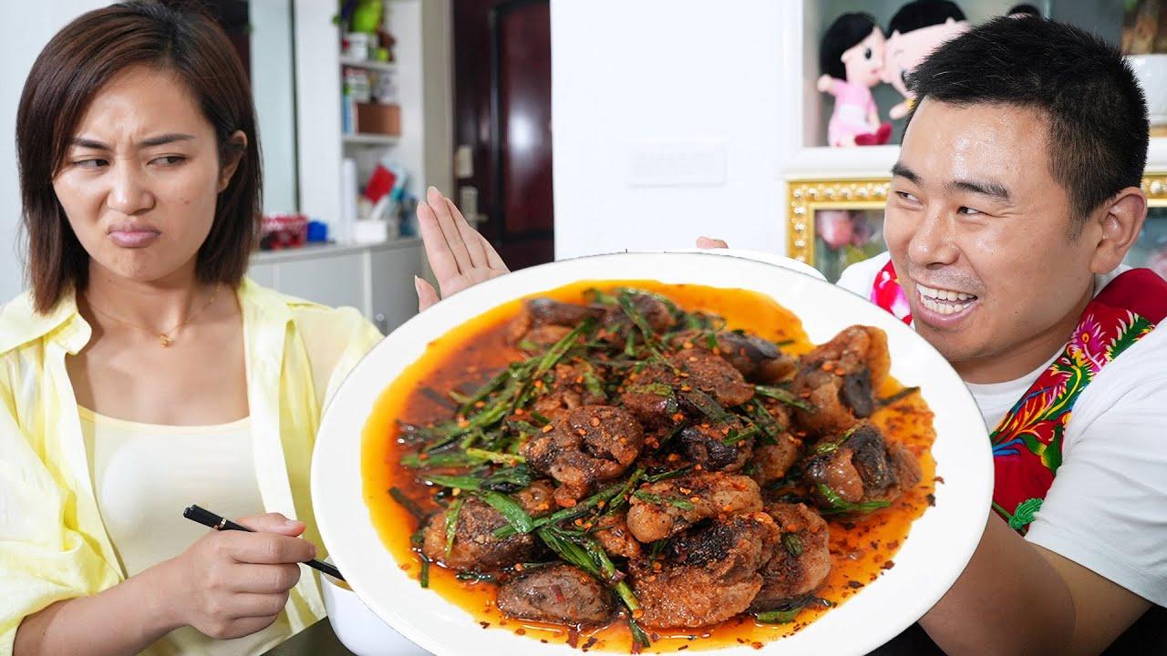 【超小厨】买20个羊腰吃独食,烤羊腰配韭菜,媳妇一脸嫌弃,老公高兴坏了!