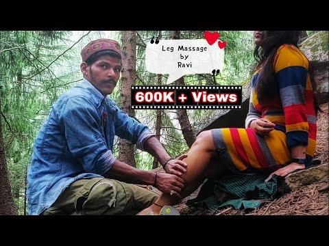 #ravimassage #footreflexology Indian Massage | Leg Massage By Ravi - in the Lap of Nature | ASMR
