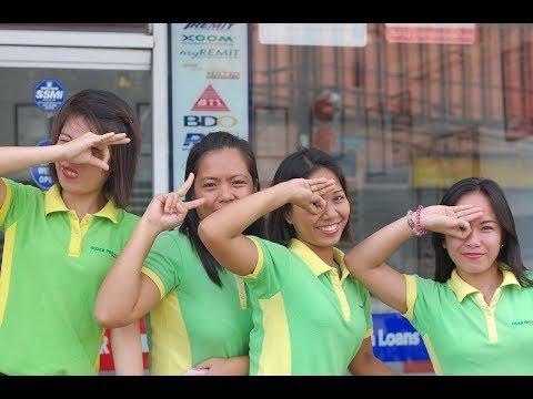 PHILIPPINES BAGGAGE HANDLERS LAUGHING IT UP AT TAGBILARAN AIRPORT BOHOL