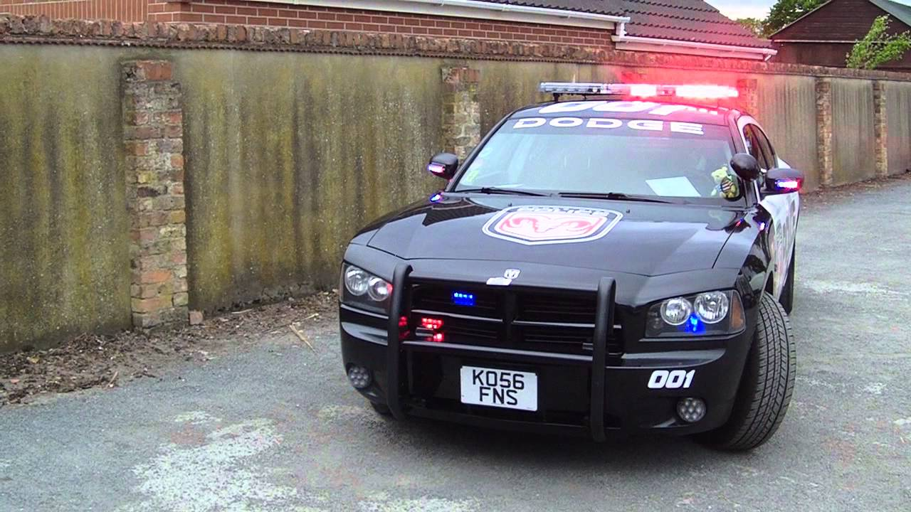 Dodge Charger Police Interceptor With Lights And Siren
