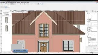 ARCHICAD  project home lessons 16. ( Терраса. Поручни, колоны )
