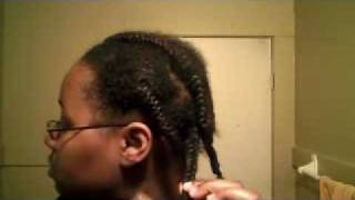 Longer Stretched Type 4a 4b Natural Hair without Heat or Rubber Bands!!