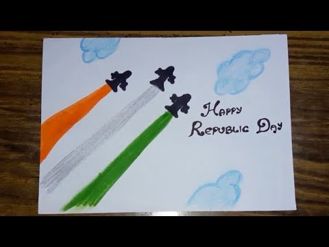 How To Draw Tricolor Tree Easy Republic Day Drawings For Kids