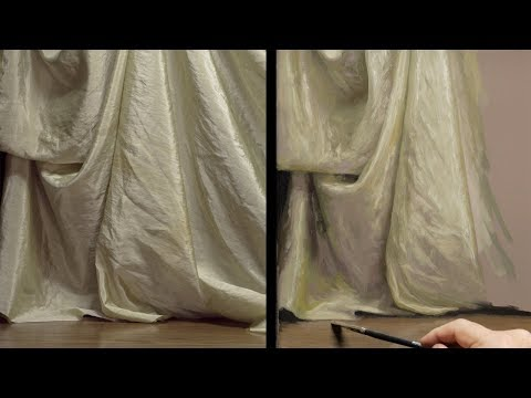 How to Paint Fabric - Painting Demonstration