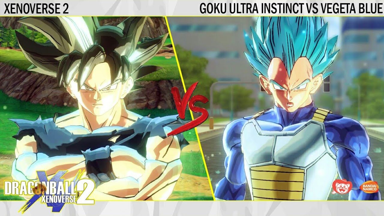 Goku Ultra Instinct Vs Vegeta Super Saiyan Blue
