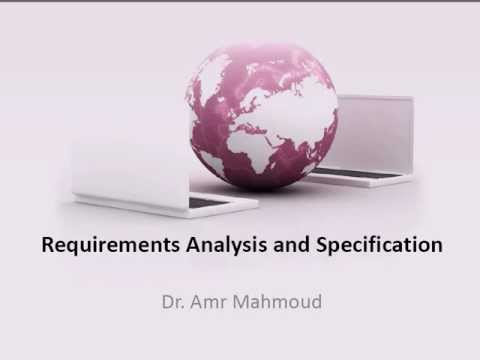 Requirements Analysis and Specification-Lecture 3