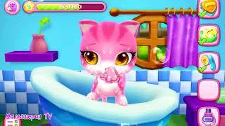 Мультики про кошечку. Веселая игра про котят. Играем и веселимся с  розовой кошечкой