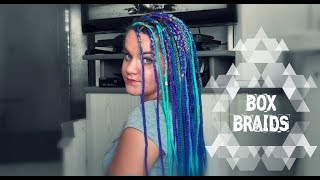 TUTORIAL BOX BRAIDS DE COLORES EN CASA