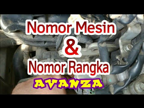 posisi nomor mesin grand new avanza vs xenia letak nomer rangka dan 2012 keatas model toyota duration 2 12