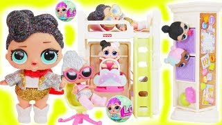 Shimmer and Shine Morning LOL Surprise Dolls Bedtime Routine Prank Glitter Queen Water Park Luxe!