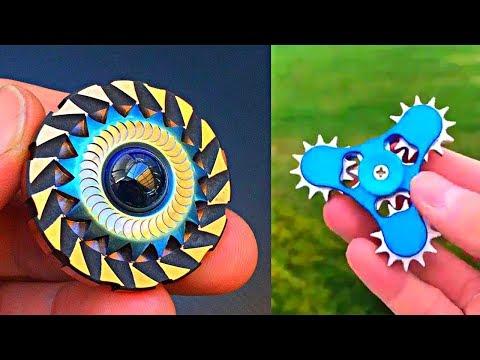 10 Fidget Spinner increibles l Los mejores Fidget spinner!! Ilusiones opticas