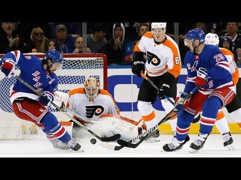 Philadelphia Flyers and New York Rangers combine for 11 goals