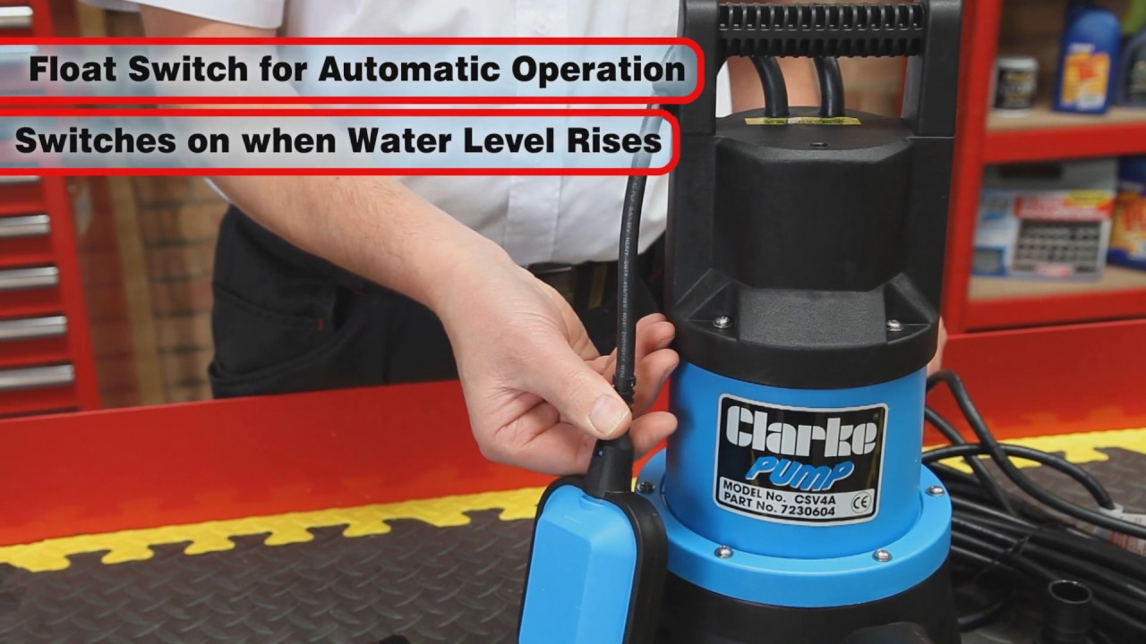 clarke csv4a submersible pump with float switch [ 1280 x 720 Pixel ]