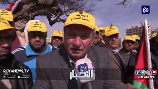 المزارعون يستأنفون اعتصامهم ويتهمون الحكومة بعدم الجدية في حل مشكلتهم - (25-2-2018)