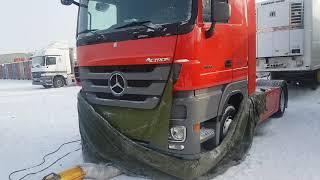 видео Отогрев грузовых машин и спецтехники