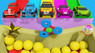 Toy Super Cars Helicopters Kinder Joy Candies Widget Spinners & Colors for Kids
