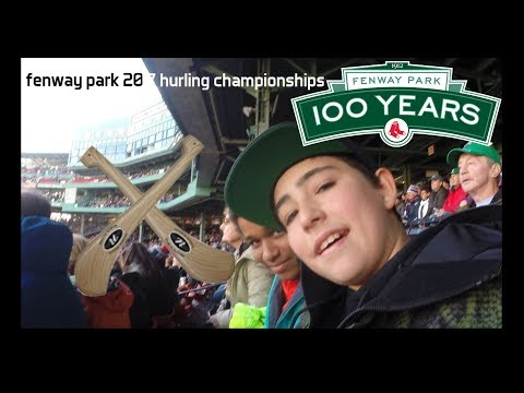 FENWAY PARK 2017 HURLING!!!! (KNIFE CONFISCATED)