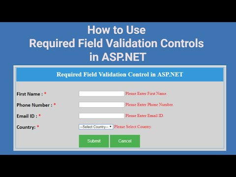 (#6) Required Field Validator In ASP.NET | Required Field Validation Controls In ASP.NET