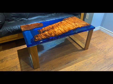 Resin Casting Tutorial How To Make An Epoxy Resin Coffee Table | SquidPoxy
