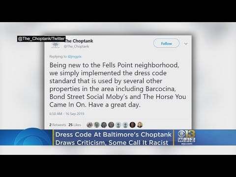 Baltimore Restaurant's Dress Code Cited As Discrimination