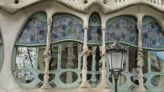 バルセロナ カサ・バトリョ ガウディ Barcelona CASA-BATLLO Antoni Gaudi.