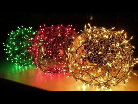 How To Make Holiday Light Balls Youtube