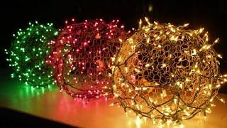 How to make holiday light balls