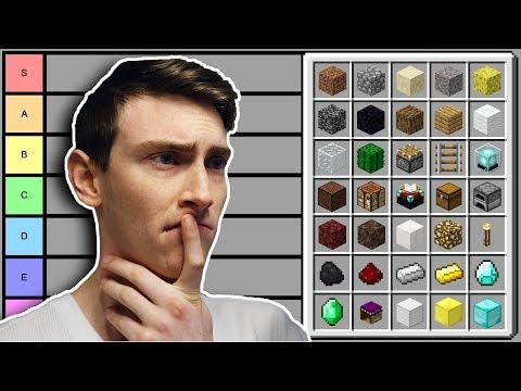 Minecraft Block Tier List