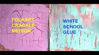 How to Make Faux Crackle with White School Glue
