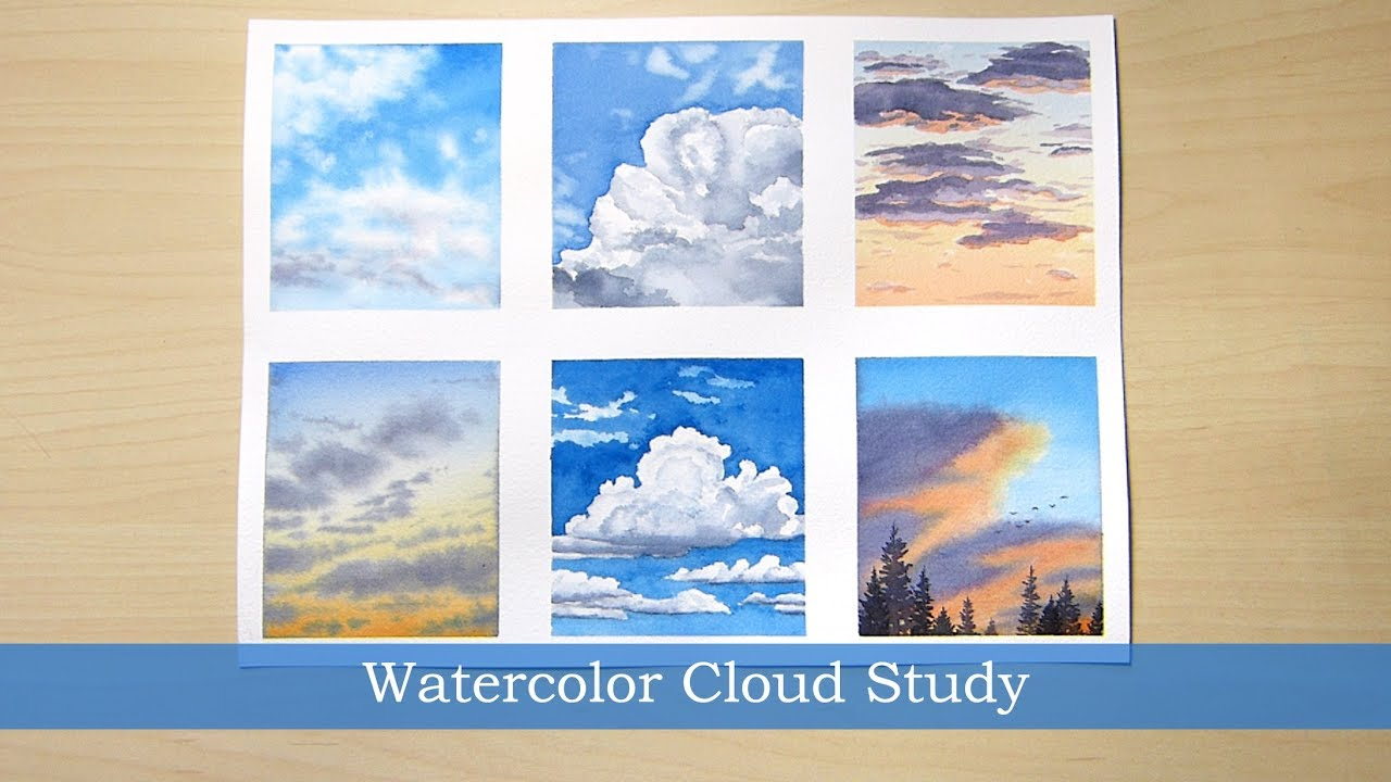 watercolor cloud study process youtube watercolor cloud study process