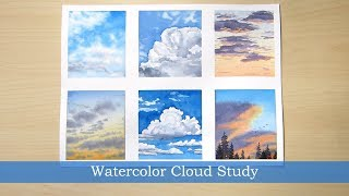 Watercolor Cloud Study Process