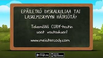 Ilmainen dyskalkulia-testi: CODY-testi FI 2016