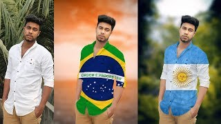 How to Put Flag images on Shirts in Photoshop | How to Put argentina - brazil Flag images on Shirts