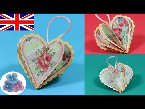 DIY Valentines Day Heart Crafts I Love You Vintage Paper 2015 Scrapbook Mathie