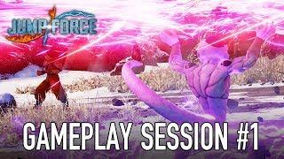 JUMP Force - PS4/XB1/PC - Gameplay Session #1 (Goku, Naruto, Luffy VS Frieza)